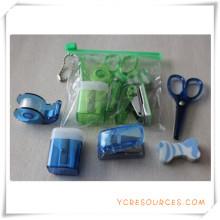 Ensemble de papeterie de boîte de PVC pour le cadeau promotionnel (OI18018)