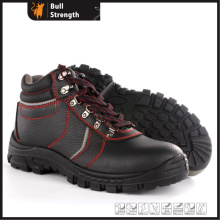 Sapato de segurança de couro genuíno de tornozelo com biqueira de aço (SN5460)