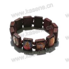 Мода ручной деревянный католический браслет Розария на упругие