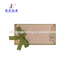 Customized Size!Wholesale note pad printing incline side, hard cover notepad memo pad