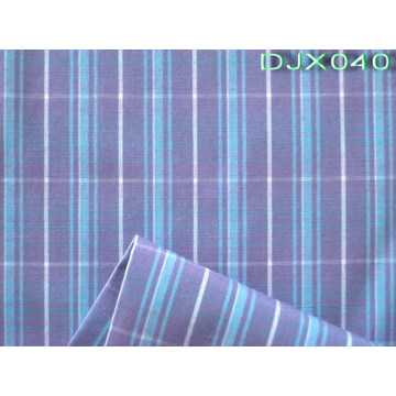 Checks Polyester Cotton Yarn Dyed Shirt Fabric Djx040