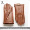 Italian Winter Dress men's Camel Color hand made gloves smartphone leather gloves