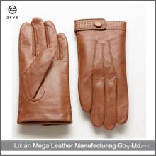 Italienische Winterkleid Herren Kamel Farbe handgefertigte Handschuhe Smartphone Leder Handschuhe