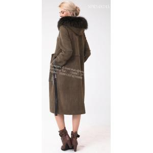 Kvinnor Australien Merino Shearling Long Big Coat