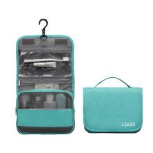 Luxury PU Hanging Cosmetic Bag Wholesale Foldable Women Toiletry Bag Waterproof Large Capacity Makeup Organizer