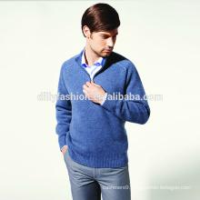 New season 2017 man half zipper long sleeves jacquard knit sweater mens
