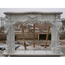Stone Fireplace with Marble Granite Limestone Sandstone (QY-LS350)