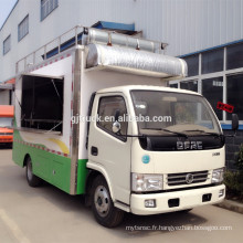 dongfeng bas prix haute qualité alimentaire camion mobile voiture-restaurant
