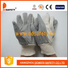 Белая полька DOT холстины Heavy Duty Glove (DCD203)