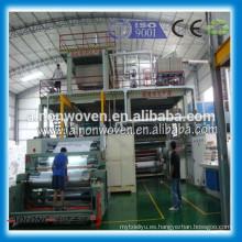 Tela no tejida de 2400mm S PP Spunbond hecha a máquina en China