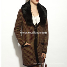 16STC8141 manteau long en cachemire pur cardigan
