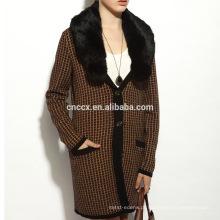 16STC8141 longo cardigan casaco de cashmere puro