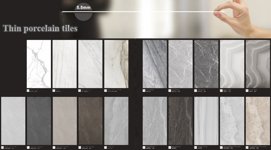 Large Format Thin Porcelain Tiles