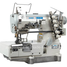 Zuker Pegasus plat Direct-Drive Interlock Machine à coudre avec Auto-tondeuse desserrer et serrer les lacets (ZK 500-05CB)