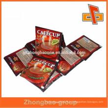 Made in china sachet impressão plástico snack alimentar embalagem com calor selado lado bolsa