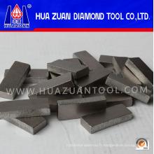 Segment de diamant pressé à chaud de 1000 mm 40X7X15mm Pointes de sablage au diamant