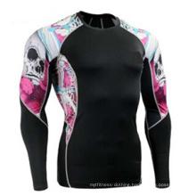 MMA Sublimation Printing Long Sleeves Rash Guards/ Costume MMA Rash Guhighest Quality Stitching