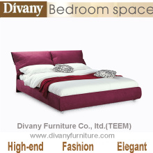Divany 2014 Modern Design Home Furniture Beds Hotel Beds Fabric Leather Beds with Night Stands (A-B25)
