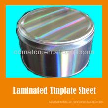 PET-Folie laminiert EN10202 standard Prime elektrolytische Weißblech Herr 2,8/2,8 Verzinn Blank T4CA für Lebensmittel kann Produktion