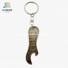 Top Sell Promotional Zlloy Antique Emboss Custom Bottle Opener Keychain