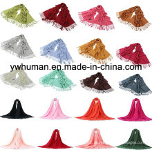 Mode Pashmina Schal 24 Solid Farben für Lady