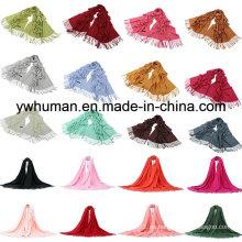 Moda Pashmina Bufanda 24 colores sólidos para la señora