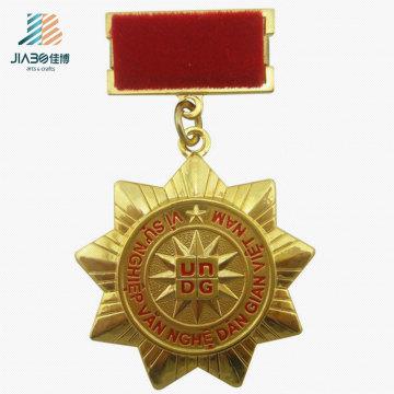 Hot Selling Alloy Casting Gold Custom Medallion Metal Souvenir Medal