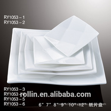 Cheap white dinner plates for restaurant