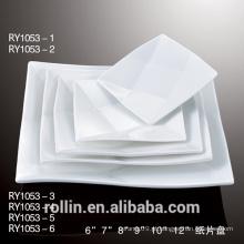 Barato branco jantar pratos para restaurante