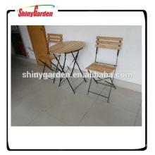 mesa y silla de hierro de madera para B & Q