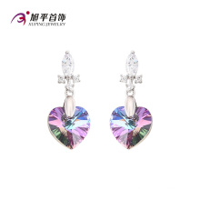E-128 Xuping Heart-Shaped CZ Crystals From Swarovski Elegant Eardrop