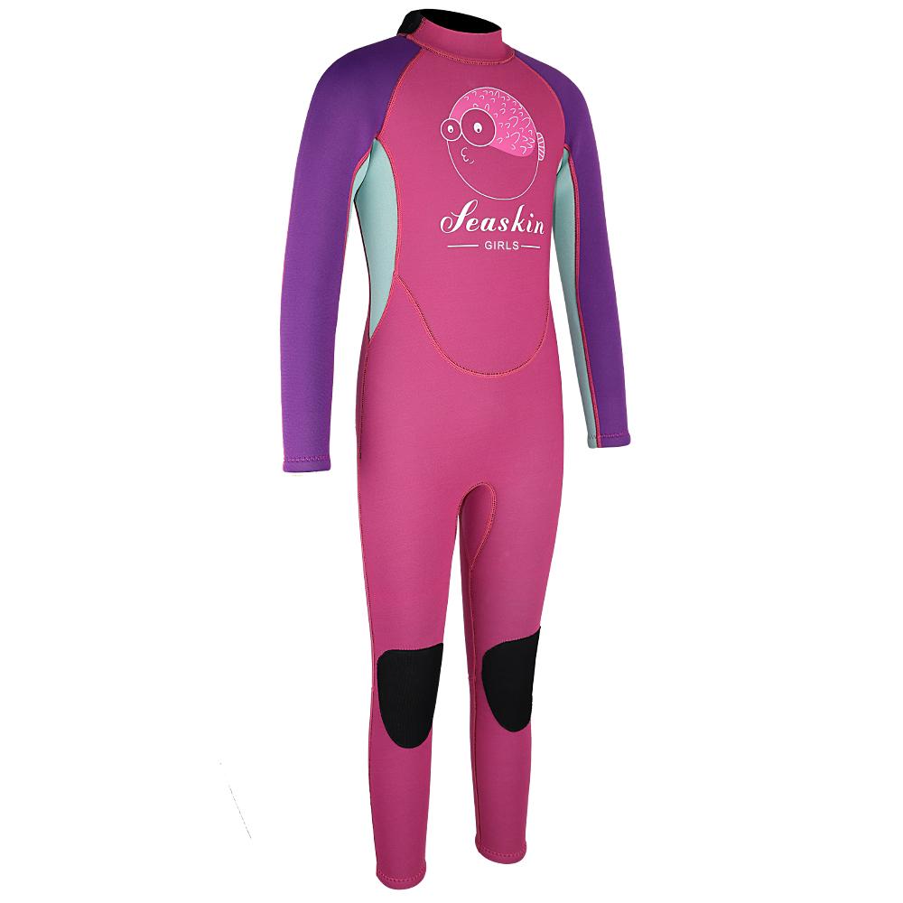 Seaskin Kids Back Zip Scuba Diving Wetsuit