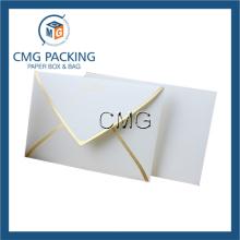 Enveloppe d'emballage en papier blanc personnalisé en crème (CMG-ENV-014)
