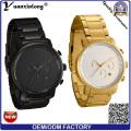Promotion nouveau Design en acier inoxydable bracelet haute qualité Calendrier Date horloge montre-bracelet Fashion homme montre chronographe