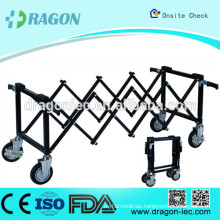 DW-TR001 stainless steel mortuary trolley for coffin truck