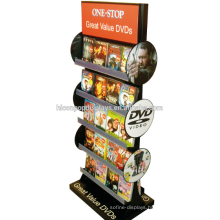 Freestanding Display Merchandise Wholesale Metal Retail Shop Double Sided Dvd Cd Display Rack