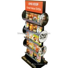 Отдельностоящий Отображения Товаров Оптовая Торговля Металлическими Розничного Магазина Двойной, Котор Встали На Сторону Стеллаж Для Выставки Товаров Компактного Диска DVD