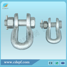 Wholesale Price China for Link Fitting,Link Fitting For Substation,Connecting Fitting,Link Fitting For Power Plant Manufacturers and Suppliers in China Hot-dip Galvanized U-type Shackles For Transmission Line supply to India Importers