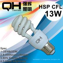Cellule énergie lampes, Eergy enregistrement des lumières, ampoules Fluocompactes