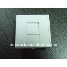 Support en blanc standard français pour 1 Jack Keystone Plaque frontale de câble réseau 45 x 45 mm