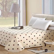 Draps de lit imprimés en percale de coton