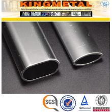 Tubo de aço oval de aço inoxidável de ASTM A554 TP304 para a mobília