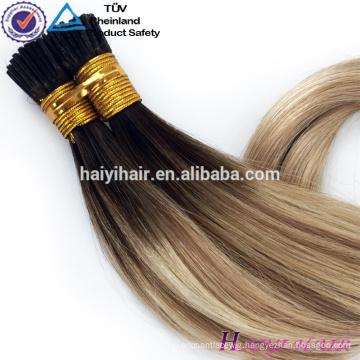 China Supplier 100% Human Remy Pre-bonded Cheap Keratin I Tip Hair