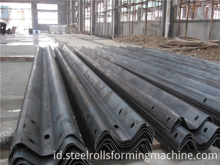 profiles produced by highway roll forming machine