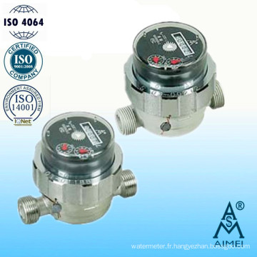 Boire de l'eau, compteur d'eau Type sec Instrument de mesure