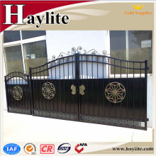 главные ворота для дачи железные трубы квадратные ворота дизайн