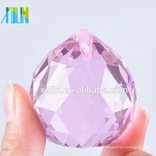 20mm Lustres ROSA Bola de Cristal Prismas Bola Feng Shui