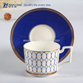 white elegance bone china coffee cup and saucers for cafe