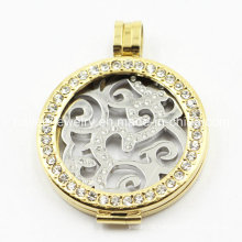 Wholesale Stainless Steel Magnetic Floating Charms Locket Pendant