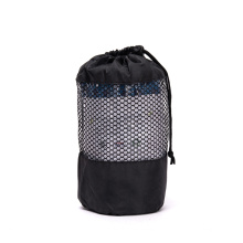amazon printed wholesale classic blue microfiber  Soft sweat absorbent non-slip wholesale yoga towel with drawstring mesh bag